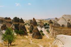 Den formade Pasabag dalchampinjonen vaggar bildande, felika lampglas i Cappadocia, Turkiet Royaltyfria Foton