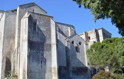 Den forntida abbotskloster av Montmajour Royaltyfri Fotografi