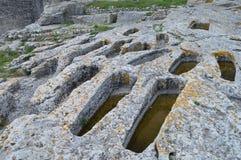 Den forntida abbotskloster av Montmajour Arkivfoto