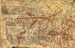 Den forntida aboriginer vaggar teckningen Royaltyfria Foton