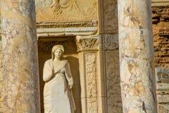 Den forntida antika staden av Efes, det Ephesus arkivet fördärvar i Turkiet arkivfoto