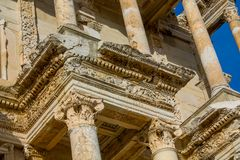 Den forntida antika staden av Efes, den Ephesus antikviteten fördärvar arkivet arkivbilder