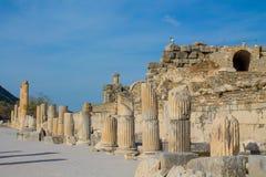 Den forntida antika staden av Efes, Ephesus fördärvar arkivbild
