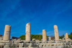 Den forntida antika staden av Efes, Ephesus fördärvar arkivfoton