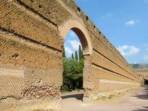 Den forntida antikviteten fördärvar av villan Adriana, Tivoli Rome arkivfoton