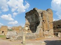 Den forntida antikviteten fördärvar av villan Adriana, Tivoli Rome royaltyfri foto