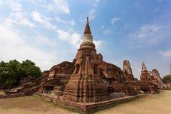 den forntida ayutthayaen fördärvar tempelet thailand Arkivbilder