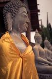 Den forntida buddha statyn Royaltyfri Fotografi