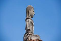 Den forntida buddisten fördärvar på Ayutthaya Arkivbild