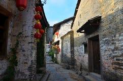 Den forntida byn för Qin klan i det Guangxi landskapet i Kina Arkivfoto