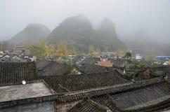 Den forntida byn för Qin klan i det Guangxi landskapet i Kina Fotografering för Bildbyråer