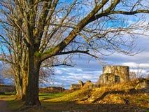 Den forntida förstörda fästningen i Ryssland Arkivbild