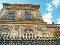 Den forntida fasaden av stadshuset av Lyon, Lyon gammal stad, Frankrike Arkivbild