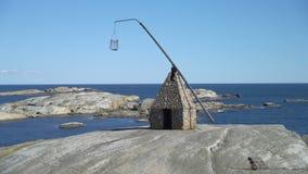 Den forntida fyren på Verdens Ende på Tjome i Norge stock video