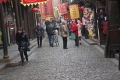 Den forntida gatan Royaltyfria Bilder