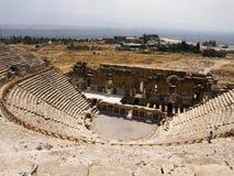 den forntida greken återstår teatern arkivfoto