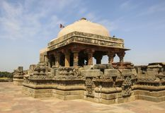 Den forntida Harshat Mata templet i Abhaneri, Rajasthan, Indien arkivfoto