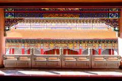 Den forntida kinesiska arkitekturen Royaltyfri Foto