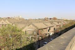 Den forntida kinesiska stilen som är bostads- i xian den forntida staden Arkivfoto