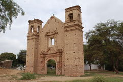den forntida kyrkan återstår Royaltyfri Foto