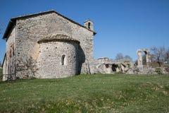 Den forntida kyrkan av San Damiano i Italien Arkivbild