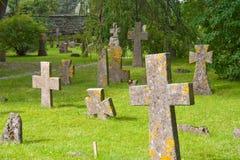 Den forntida kyrkogården Royaltyfri Fotografi
