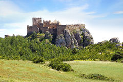 Den forntida Loarre slotten, Spanien Royaltyfri Bild