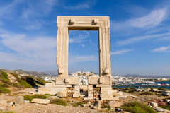Den forntida marmorporten Arkivbild