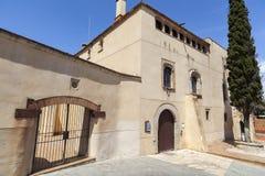 Den forntida medeltida mangårdsbyggnaden kan flöden Sant Boi de Llobregat, royaltyfria foton