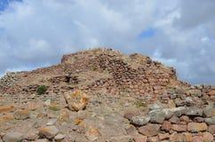 Den forntida Nuraghen av Seruci, Sardinia arkivbilder