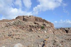 Den forntida Nuraghen av Seruci, Sardinia arkivbild