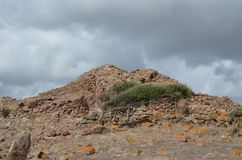 Den forntida Nuraghen av Seruci, Sardinia royaltyfri foto