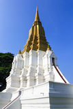 Forntida pagoda i tempelet, Ayutthaya Arkivfoton