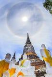 Den forntida pagoden i historiska Ayuthaya parkerar Arkivfoton