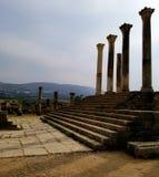 Den forntida Roman City Volubilis, Marocko royaltyfria foton