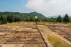 Den forntida roman staden av Libarna, i Piedmont royaltyfri fotografi