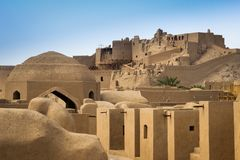 Den forntida staden av Bam i söderna av Iran arkivbild