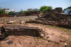 Den forntida staden av Chiang Mai, Thailand forntida vägg Royaltyfri Fotografi