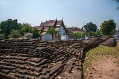 Den forntida staden av Chiang Mai, Thailand forntida vägg Royaltyfria Bilder
