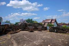 Den forntida staden av Chiang Mai, Thailand forntida vägg Royaltyfri Foto