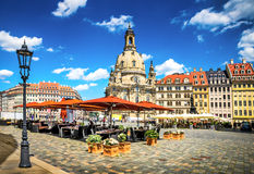 Den forntida staden av Dresden, Tyskland royaltyfri bild