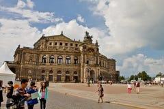 Den forntida staden av Dresden, Tyskland Royaltyfria Foton
