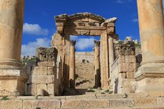 Den forntida staden av Jerash Royaltyfri Bild