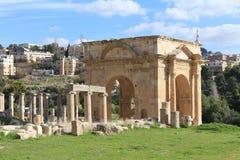 Den forntida staden av Jerash Royaltyfria Bilder