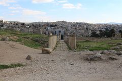 Den forntida staden av Jerash Arkivfoto