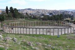 Den forntida staden av Jerash Royaltyfria Foton