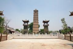 Den forntida staden av luoyien, luoyang, Kina - wenfengtorn royaltyfri bild