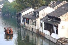Den forntida staden av Nanxun, Huzhou, Zhejiang, Kina arkivfoton