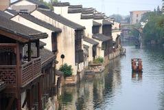 Den forntida staden av Nanxun, Huzhou, Zhejiang, Kina Royaltyfri Foto