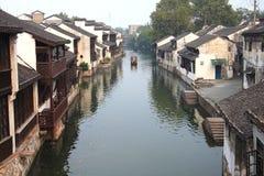 Den forntida staden av Nanxun, Huzhou, Zhejiang, Kina Arkivbilder